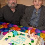 Frank, a long time resident of Cecelia Murphy Building, celebrates 100 years in style. With his son James, friends and neighbours in attendance he received many birthday wishes.