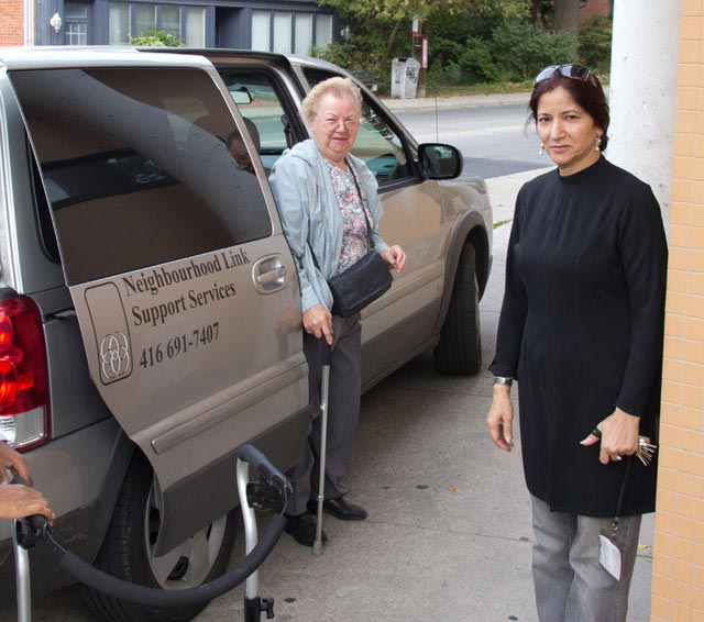 Neighbourhood Link provides rides to the Adult Day Program for lunch, friendship and some gentle exercise.
