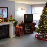 O'Connor House is cheerfully bedecked for the holiday season.